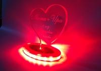 сердце из акрила